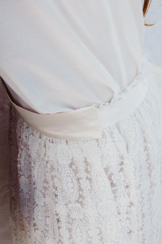 abito sposa tessuti naturali macrame cotone