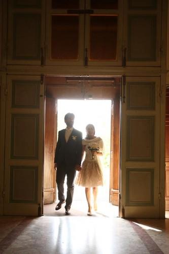 abito da sposa bustino e pizzo