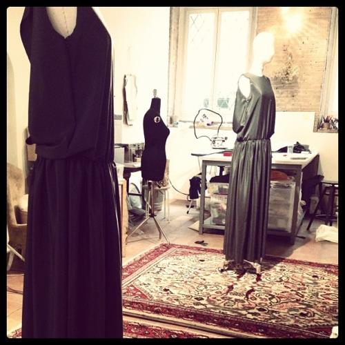abito lungo in seta