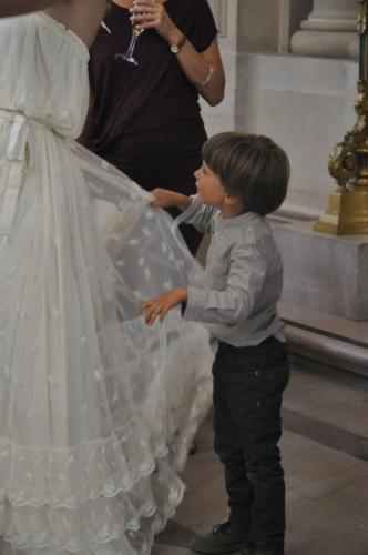 abito da sposa balze e tulle ricamato