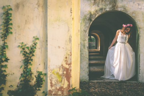 Studio A+Q foto abito sposa canotta