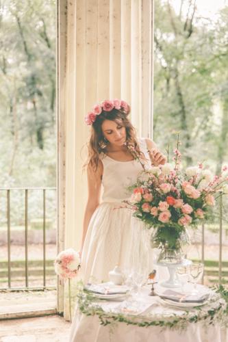 Studio A+Q abito da sposa e fiori